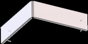 curva fermapiede, alluminio, accessori