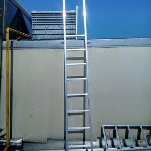 scala di sicurezza fissa, protezione, staffe