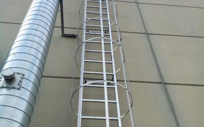 scale di sicurezza, scala a gabbia, protezione