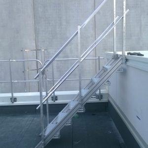 scale di sicurezza, parapetti, scavalco
